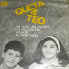 Discos de vinilo: QUETA & TEO - ES CORET DES COTXETET EP - ORIGINAL ESPAÑOL - EDIGSA 1964 - MONOAURAL CON LAS LETRAS -. Lote 48771416
