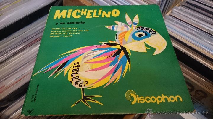 Discos de vinilo: Michelino y su conjunto Madrid Cha cha cha Ep disco de vinilo Discophon - Foto 2 - 48774999