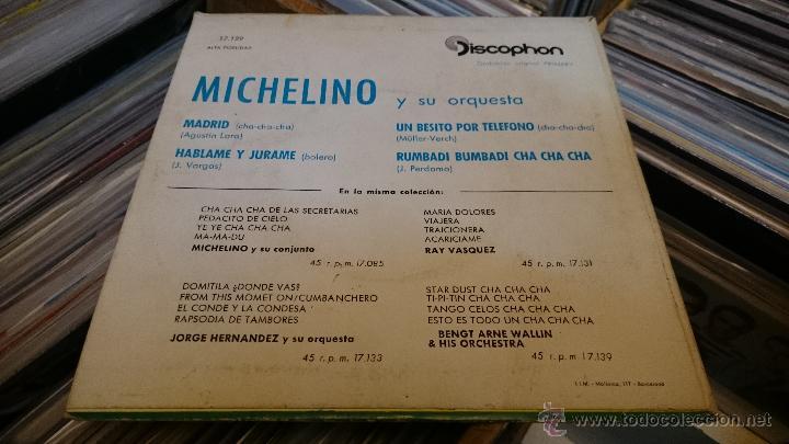 Discos de vinilo: Michelino y su conjunto Madrid Cha cha cha Ep disco de vinilo Discophon - Foto 3 - 48774999