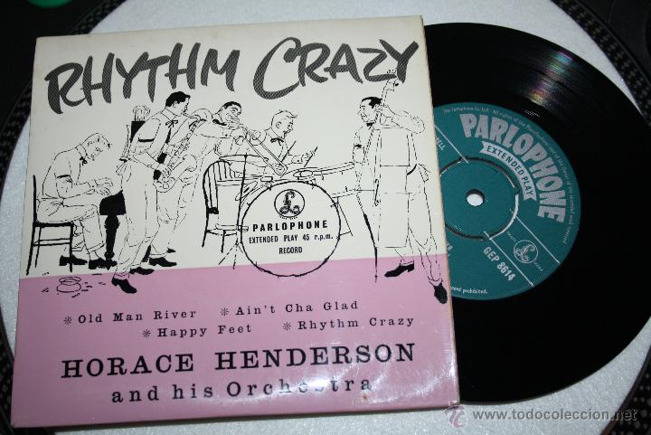 HORACE HENDERSON AND HIS ORCH. - RHYTHM CRAZY (OLD MAN RIVER, HAPPY FEET...) PARLOPHONE (Música - Discos - Singles Vinilo - Jazz, Jazz-Rock, Blues y R&B)