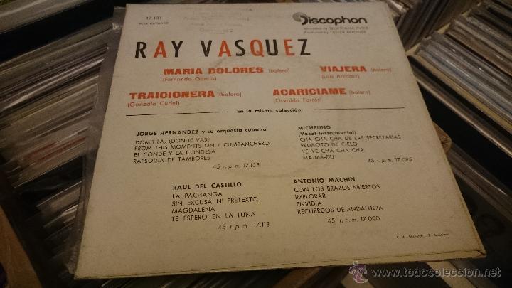 Discos de vinilo: Ray vasquez Maria dolores viajera Ep Disco de vinilo Discophon - Foto 4 - 48778025