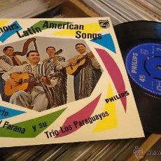 Discos de vinilo: LUIS ALBERTO DEL PARANA FAMOUS LATIN AMERICAN SONGS EP DISCO DE VINILO PHILIPS . Lote 48778088