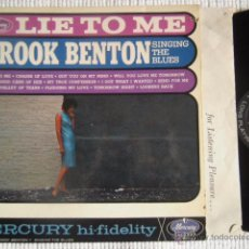Discos de vinilo: BROOK BENTON - '' LIE TO ME SINGING THE BLUES '' LP ORIGINAL USA. Lote 48778320