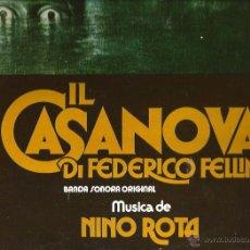 Discos de vinilo: LP BANDA SONORA IL CASANOVA DI FEDERICO FELLINI - MUSICA DE NINO ROTA . Lote 48779446