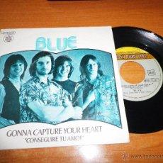 Discos de vinilo: BLUE GONNA CAPTURE YOUR HEART / THE SHEPHERD SINGLE VINILO 1977 PRODUCIDO POR ELTON JOHN 2 TEMAS. Lote 48779455