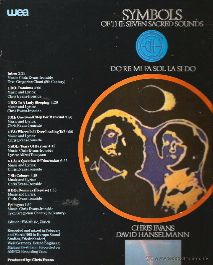 Discos de vinilo: LP CHRIS EVANS & DAVID HANSELMANN : SYMBOLS OF THE SEVEN SACRED SOUNDS ( INCLUYE HOJAS PROMOCIONALES - Foto 2 - 48779905