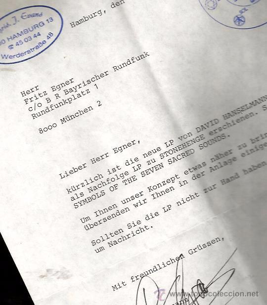 Discos de vinilo: LP CHRIS EVANS & DAVID HANSELMANN : SYMBOLS OF THE SEVEN SACRED SOUNDS ( INCLUYE HOJAS PROMOCIONALES - Foto 6 - 48779905