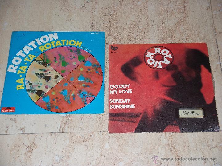 ROTATION-LOTE DOS SINGLES- (Música - Discos - Singles Vinilo - Grupos Españoles de los 70 y 80)