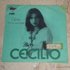 Discos de vinilo: CECILIO-DIME/VEN TE ESPERARE- LA CORRIDA 1974// ( ALMAS HUMILDES )SPAIN POP PSYCH FOLK GROOVER//RARO. Lote 48781559