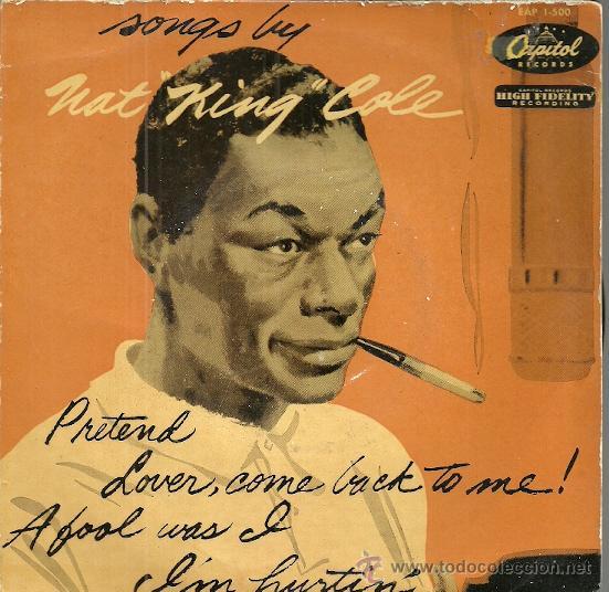 NAT KING COLE EP SELLO CAPITOL AÑO 1956 EDITADO EN ESPAÑA (Música - Discos de Vinilo - EPs - Funk, Soul y Black Music)