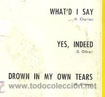 Discos de vinilo: RAY CHARLES IN PERSON EP SELLO BELTER AÑO 1960 EDITADO EN ESPAÑA - Foto 2 - 48783661