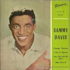 Discos de vinilo: SAMMY DAVIS EP SELLO PORUNSWICK AÑO 1962 EDITADO EN ESPAÑA. Lote 48783686