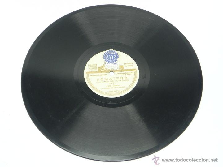 Discos de vinilo: DISCO DE PIZARRA DE JUAN GARCIA - JOTA - FEMATERA / EL SENTIMIENTO, LA PARRA - ED. ODEON, 184474, BU - Foto 2 - 48806262