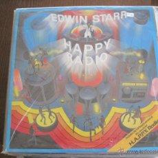 Discos de vinilo: EDWIN STARR - HAPPY RADIO - LP 20TH CENTURY FOX UK 1979 . Lote 48807400