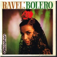 Discos de vinilo: ORQUESTA FILARMÓNICA CHECA - BOLERO. MAURICE RAVEL - SINGLE 1963. Lote 48809931