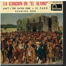 Disques de vinyle: MARY ROBBINS - LA CANCIÓN DEL ALAMO / AIN'T I THE LUCKY ONE / EL PASO / RUNNING GUN - EP 1960. Lote 48810714