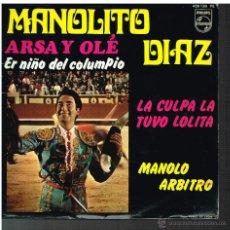 Discos de vinilo: MANOLITO DIAZ - ARSA Y OLE / ER NIÑO DEL COLUMPIO + 2 - EP 1968. Lote 48811351