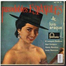 Discos de vinilo: LUIS ARAQUE - EL TROMPETA FLAMENCO / AQUÍ ZARAGOZA / OPERA FLAMENCA +1 - EP 1962. Lote 48811457