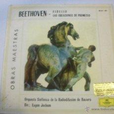 Discos de vinilo: BEETHOVEN. ORQ. SINFÓNICA DE LA RADIODIFUSIÓN DE BAVIERA. Lote 48821304
