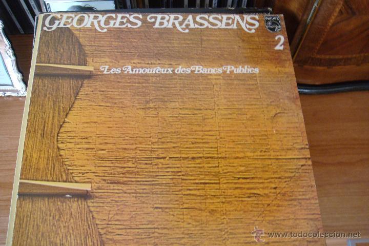 GEORGES BRASSENS. LES AMOUREUX DES BANC PUBLICS. AÑO 1979. PHILIPS (Música - Discos - LP Vinilo - Canción Francesa e Italiana)