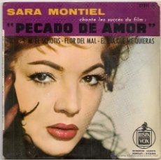 Discos de vinilo: SARA MONTIEL - PECADO DE AMOR ( EP HISPAVOX-BARCLAY EDICION FRANCESA). Lote 48824067
