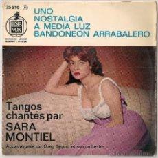 Discos de vinilo: SARA MONTIEL - TANGOS CHANTÉS PAR SARA MONTIEL ( EP HISPAVOX-BARCLAY EDICION FRANCESA). Lote 48824086