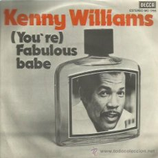 Discos de vinilo: KENNY WILLIAMS SINGLE SELLO DECCA AÑO 1978. Lote 48826762