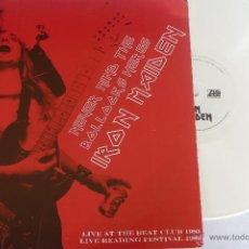 Discos de vinilo: IRON MAIDEN – LP NEVER MIND THE BOLLOCKS HERES - ED.LTDA. -VINILO BLANCO -EX // VG. Lote 48836400