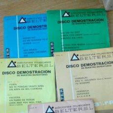 Discos de vinilo: LOTE 5 DISCOS DEMOSTRACION BELTER-EDICIONES MUSICALES. Lote 48838112