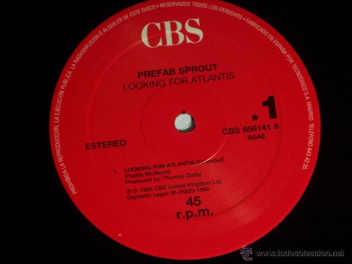 Discos de vinilo: MAXI SINGLE - PREFAB SPROUT (LOOKING FOR ATLANTIS) CBS-1990 - Foto 4 - 48849846