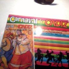 Discos de vinilo: DISCO DE VINILO CARNAVAL DE CADIZ. GRAN FINAL DEL CONCURSO DE AGRUPACIONES FALTA EL DISCO 2. C4V. Lote 48853481