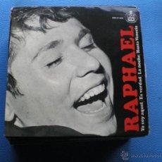 Discos de vinilo: RAPHAEL - YO SOY AQUEL / ES VERDAD / LA NOCHE / HASTA VENECIA / EP DE 1966 COMO NUEVO ¡¡. Lote 48860196