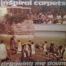 Discos de vinilo: INSPIRAL CARPETS – DRAGGING ME DOWN (MUTE RECORDS LTD., DUNG 16 T, VINYL, 12'', SPAIN, 1992). Lote 48863422