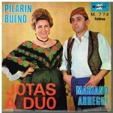 Discos de vinilo: PILARÍN BUENO / MARIANO ARREGUI - JOTAS A DUO - EP 1968. Lote 51816097