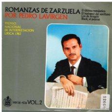 Discos de vinilo: PEDRO LAVIRGEN - ROMANZAS DE ZARZUELA - EP 1963. Lote 48864162