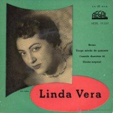 Discos de vinilo: LINDA VERA, EP, TENGO MIEDO DE QUERERTE + 3, AÑO 1959. Lote 48866161
