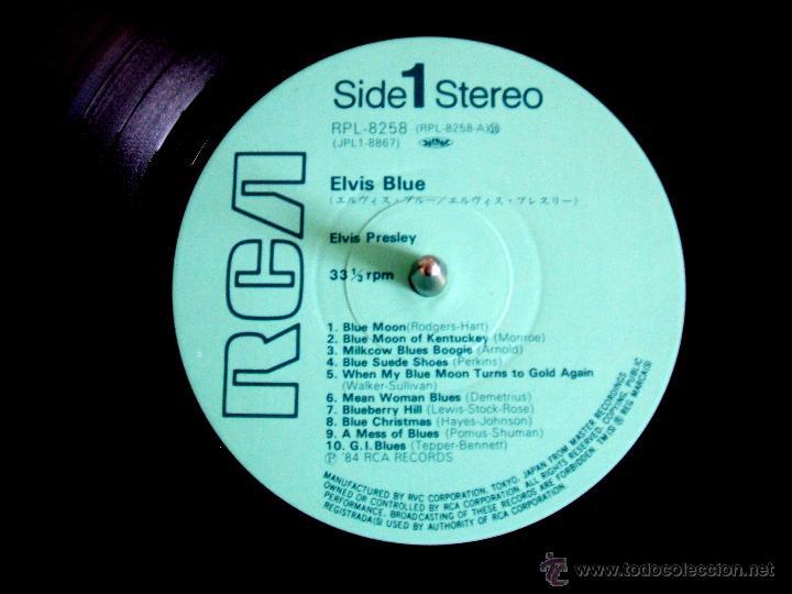 Discos de vinilo: ELVIS PRESLEY: ELVIS BLUE (RPL-8258), RCA JAPAN PRESSING 1984 / - Foto 3 - 48866262