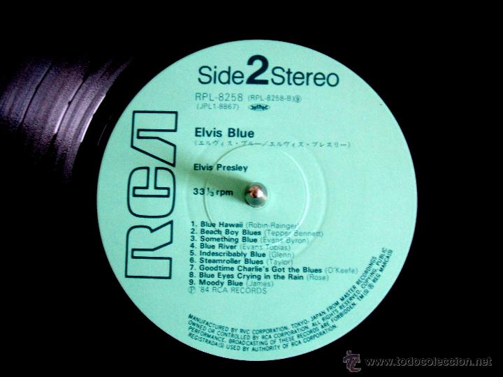 Discos de vinilo: ELVIS PRESLEY: ELVIS BLUE (RPL-8258), RCA JAPAN PRESSING 1984 / - Foto 4 - 48866262