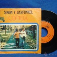 Discos de vinilo: - SIMON Y GARFUNKEL - CECILIA/ EL ÚNICO MUCHACHO...- CBS 1970. Lote 48867082