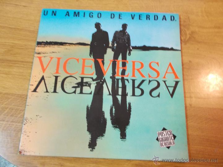 VICEVERSA.UN AMIGO DE VERDAD. NO CONTIENE POSTER (Música - Discos - LP Vinilo - Grupos Españoles de los 90 a la actualidad)