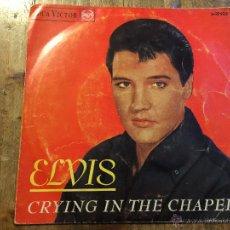 Discos de vinilo: ANTIGUO DISCO PEQUEÑO. ELVIS PRESLEY. CRYING IN THE CHAPEL. RCA VICTOR. Lote 48881958
