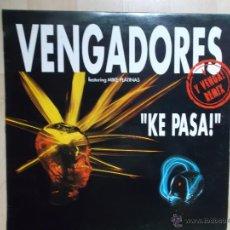 Discos de vinilo: VENGADORES - KE PASA - Y VENGA - ILDE - 1992. Lote 48888376
