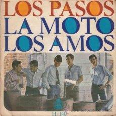 Discos de vinilo: LOS PASOS. LA MOTO / LOS AMOS. Lote 48898542