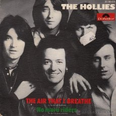 Discos de vinilo: THE HOLLIES. THE AIR THAT I BREATHE / NO MORE RIDERS. Lote 48898794