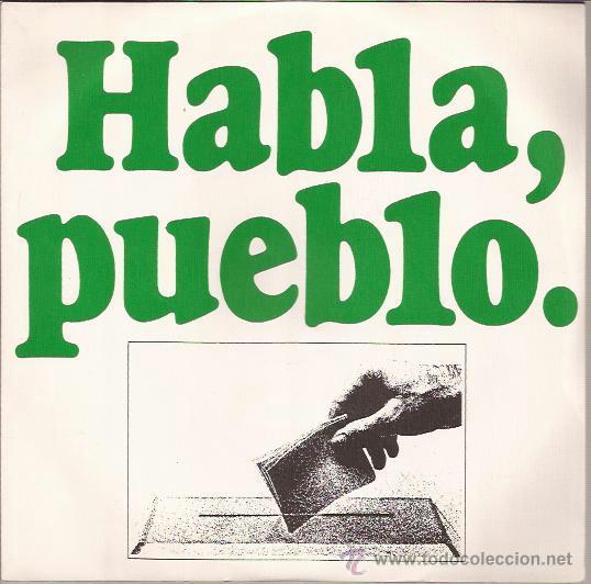 SINGLE-HABLA PUEBLO REFERENDUM 1976-ALVARO NIETO (Música - Discos - Singles Vinilo - Otros estilos)
