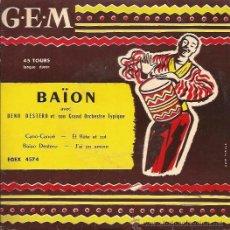 Discos de vinilo: EP-BAION DENO DESTRO ORCHESTRE-GEM 4574-FRANCE 195??. Lote 48904008