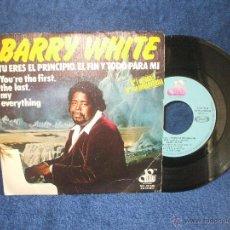 Discos de vinilo: SINGLE DE BARRY WHITE, YOU RE THE FIRST, THE LAST, MY EVERYTHING, DE CENTURY RECORDS.. Lote 48907770