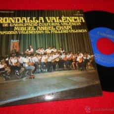 Discos de vinilo: RONDALLA VALENCIA DIR;CHAPI RAPSODIA VALENCIANA/EL FALLERO/VALENCIA EP 1975 COLUMBIA EXCELENTE. Lote 48911564