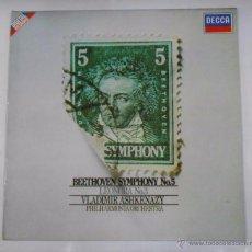 Dischi in vinile: BEETHOVEN SYMPHONY NO. 5. VLADIMIR ASHKENAZY PHILHARMONIA ORCHESTRA. TDKDA9. Lote 48916621