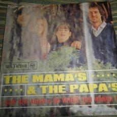 Discos de vinilo: THE MAMAS & THE PAPAS - I SAW HER AGAIN SINGLE ORIGINAL ESPAÑOL - RCA VICTOR RECORDS 1966 MONOAURAL . Lote 48917616